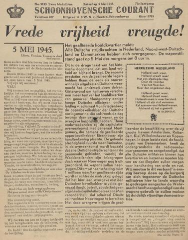 Schoonhovensche Courant 1945-05-05