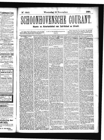 Schoonhovensche Courant 1899-11-22