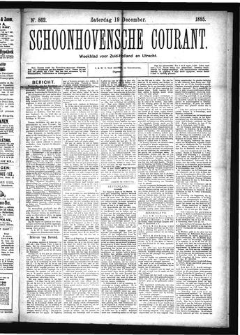 Schoonhovensche Courant 1885-12-19