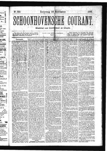 Schoonhovensche Courant 1886-11-20