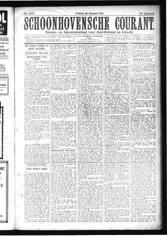 Schoonhovensche Courant 1923-01-26