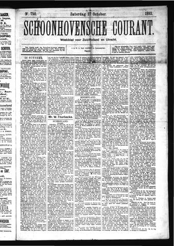 Schoonhovensche Courant 1883-10-27