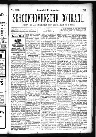 Schoonhovensche Courant 1912-08-10