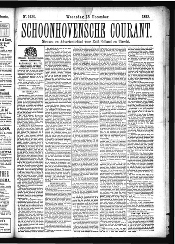 Schoonhovensche Courant 1893-12-13