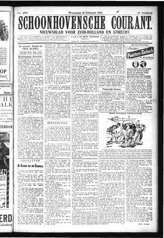 Schoonhovensche Courant 1924-02-20