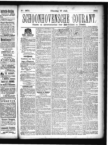 Schoonhovensche Courant 1915-07-27