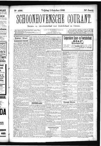 Schoonhovensche Courant 1920-10-01
