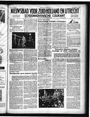 Schoonhovensche Courant 1950-11-22