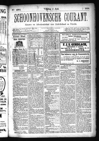 Schoonhovensche Courant 1919-07-04