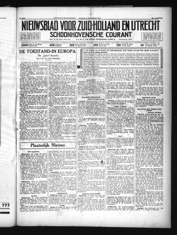 Schoonhovensche Courant 1934-09-21