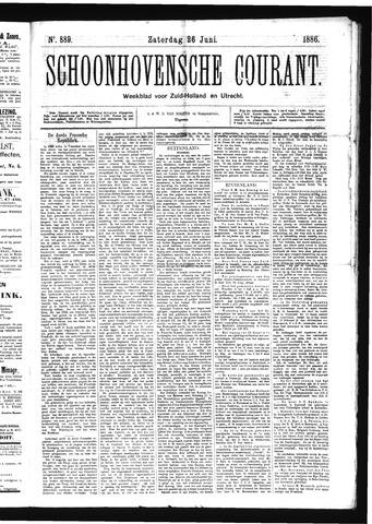 Schoonhovensche Courant 1886-06-26