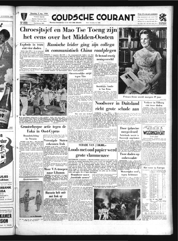 Goudsche Courant 1958-08-04