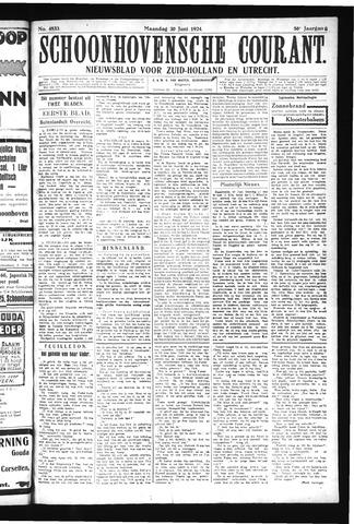 Schoonhovensche Courant 1924-06-30