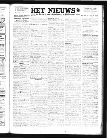 Schoonhovensche Courant 1946-04-15
