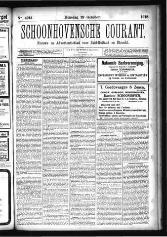 Schoonhovensche Courant 1918-10-29