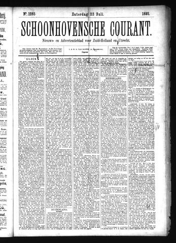 Schoonhovensche Courant 1892-07-23