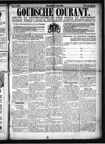 Goudsche Courant 1931-07-14
