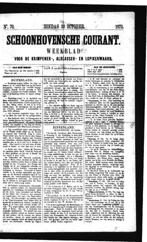 Schoonhovensche Courant 1870-10-30
