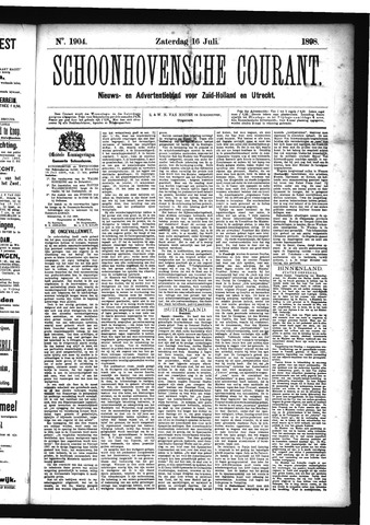 Schoonhovensche Courant 1898-07-16