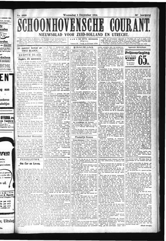 Schoonhovensche Courant 1924-12-03