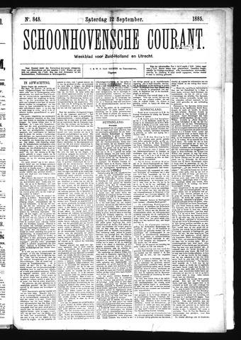 Schoonhovensche Courant 1885-09-12