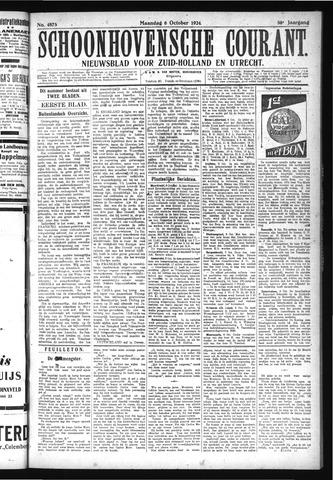 Schoonhovensche Courant 1924-10-06