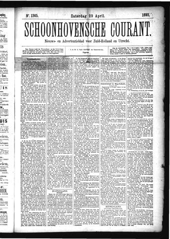 Schoonhovensche Courant 1893-04-29