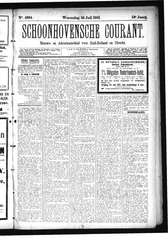 Schoonhovensche Courant 1921-07-20