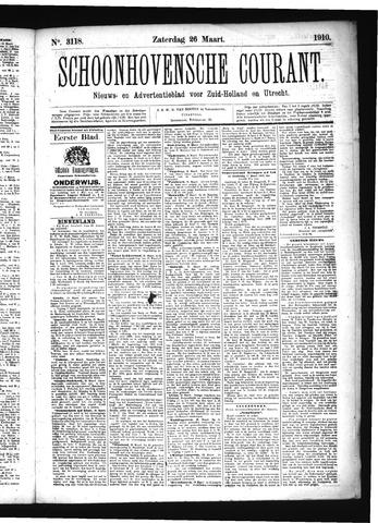 Schoonhovensche Courant 1910-03-26