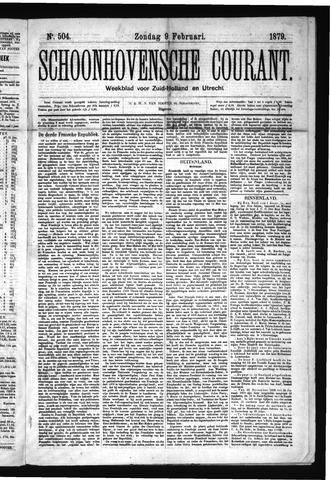 Schoonhovensche Courant 1879-02-09