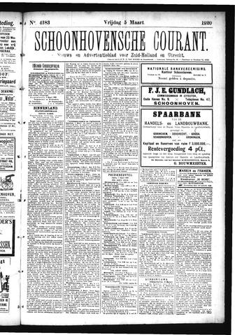 Schoonhovensche Courant 1920-03-05