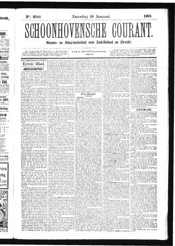 Schoonhovensche Courant 1905-01-28
