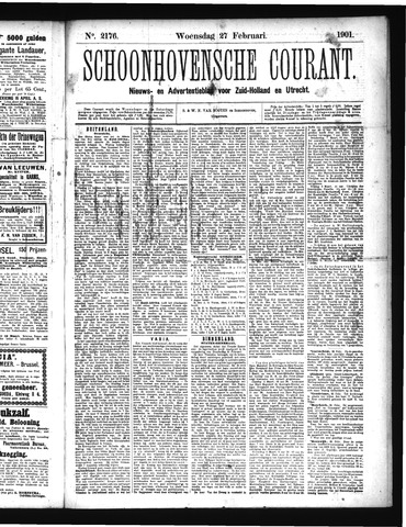 Schoonhovensche Courant 1901-02-27