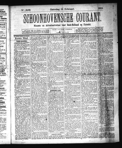 Schoonhovensche Courant 1913-02-15