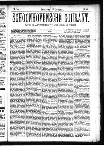 Schoonhovensche Courant 1894-01-27