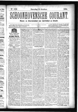 Schoonhovensche Courant 1894-10-13