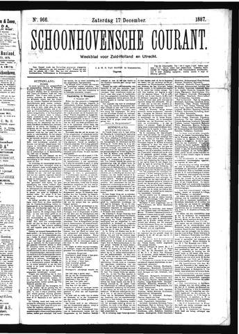 Schoonhovensche Courant 1887-12-17