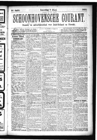 Schoonhovensche Courant 1913-06-07