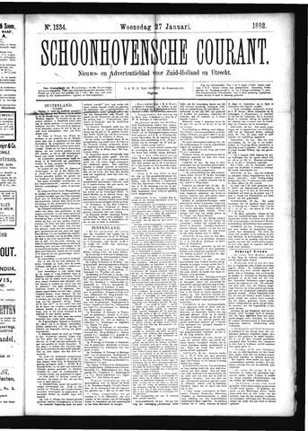 Schoonhovensche Courant 1892-01-27