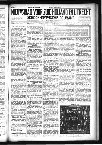 Schoonhovensche Courant 1933-09-01