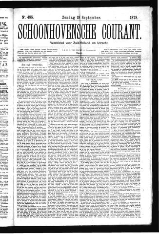 Schoonhovensche Courant 1878-09-29