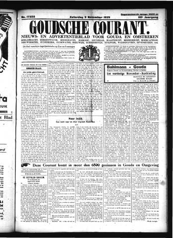 Goudsche Courant 1929-11-09