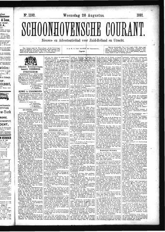 Schoonhovensche Courant 1891-08-26