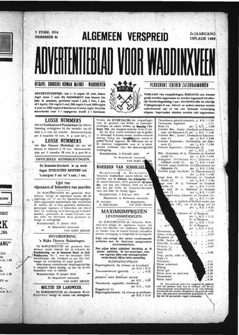 Advertentieblad Waddinxveen 1916-02-05