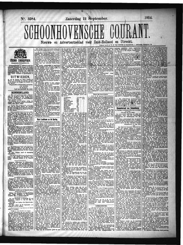 Schoonhovensche Courant 1914-09-12