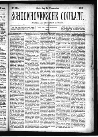 Schoonhovensche Courant 1885-11-14