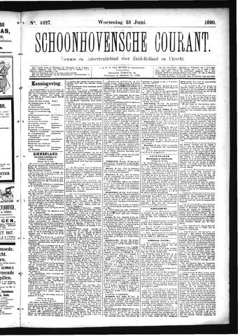 Schoonhovensche Courant 1920-06-23