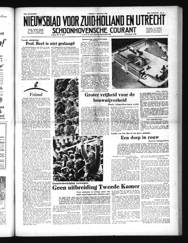 Schoonhovensche Courant 1952-08-01