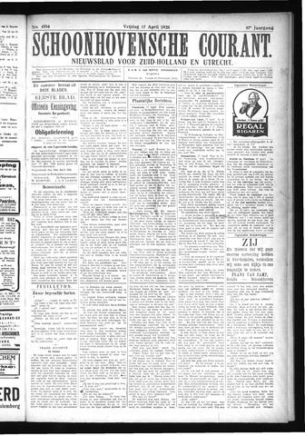 Schoonhovensche Courant 1925-04-17