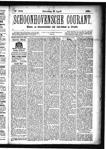 Schoonhovensche Courant 1898-04-30